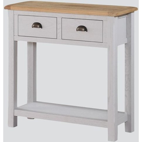 Kilmore Large Console Table - Oak And Grey Painted