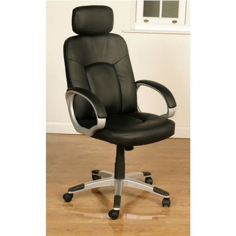 Viking Black Faux Leather Office Chair