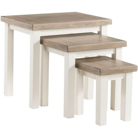 Annaghmore Santorini Painted Nest Of Tables - (Set O...