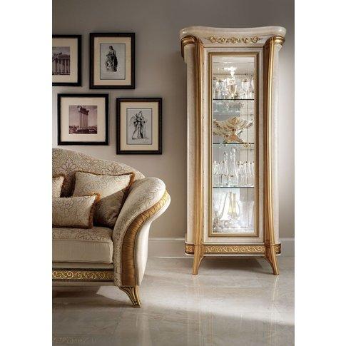 Arredoclassic Melodia Golden Italian 1 Glass Door Di...