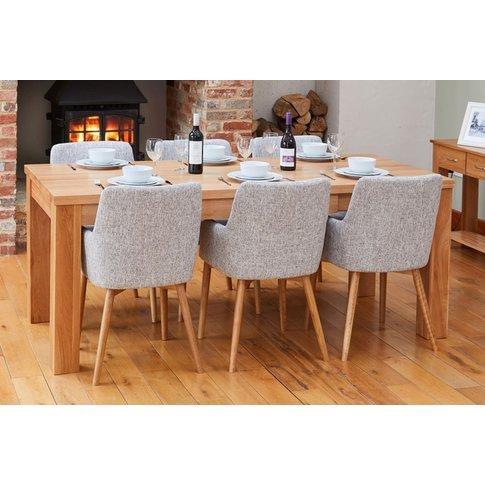 Baumhaus Mobel Oak Extending Dining Table And 6 Ligh...