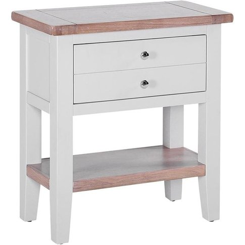 Chalked Oak And Light Grey Console Table - Besp Oak