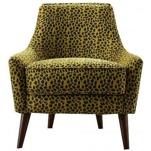 Animal Print Fabric Armchair