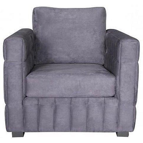 Navy Fabric Armchair