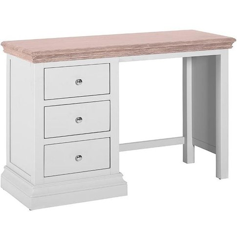 Rosa Painted 3 Drawer Dressing Table - Besp Oak