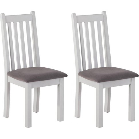 Rosa Painted Vertical Slats Dining Chair - Plush Mol...