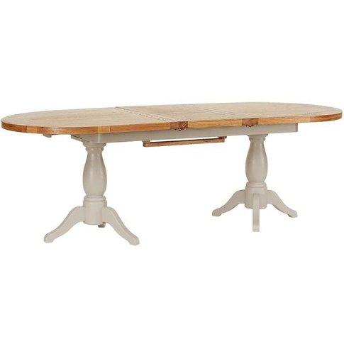 Vancouver Expressions Potters Wheel Oval Extending Twin Pedestal Dining Table - 190cm-240cm