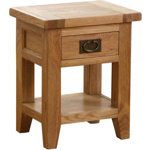 Vancouver Petite Oak 1 Drawer Bedside Table - Besp Oak