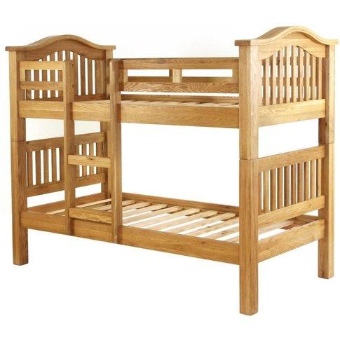 Vancouver Petite Oak Single Bunk Bed - Besp Oak