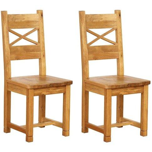 Vancouver Petite Oak Cross Back Dining Chair - Besp Oak
