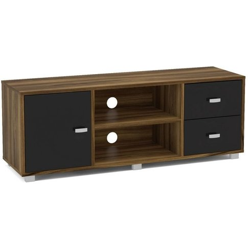 Birlea Covent Tv Unit - Walnut & Black