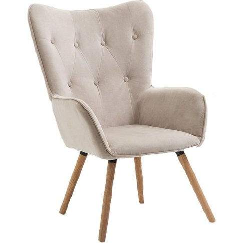 Birlea Beige Willow Armchair