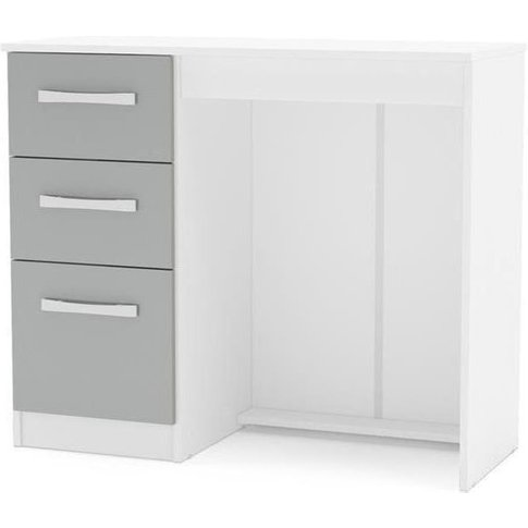 Birlea Lynx Dressing Table - White And Grey