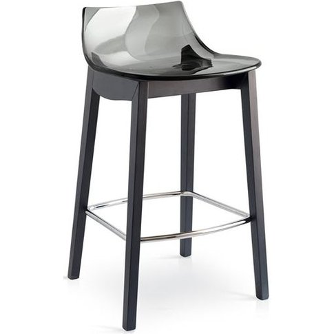 Connubia Led W Wooden And Technopolymer Bar Stool Wi...