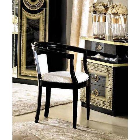 Camel Aida Black And Gold Armchair