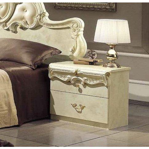 Camel Barocco Ivory Bedside Cabinet