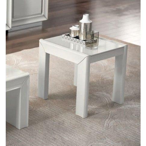 Camel Dama White Italian Tavolino Lamp Table