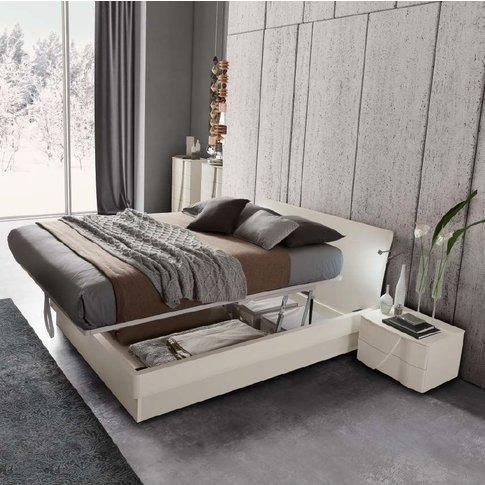 Camel Luna Night White Ash Italian Eclisse Bed With ...