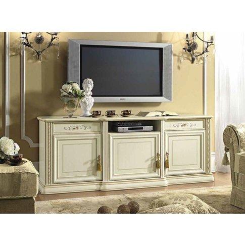 Camel Siena Day Ivory Italian Large Tv Cabinet