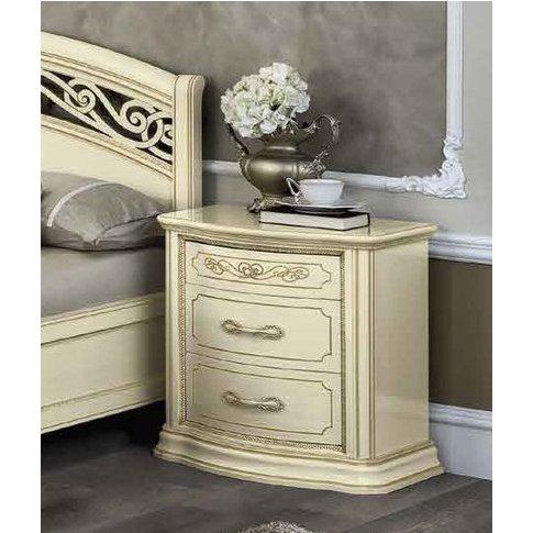 Camel Torriani Night Ivory Italian Vip Bedside Cabinet