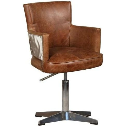 Carlton Additions Lightning Brown Leather Office Chair