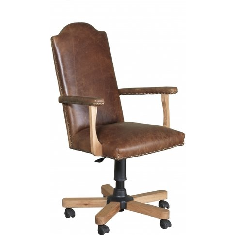 Carlton Copeland Oak Office Chair