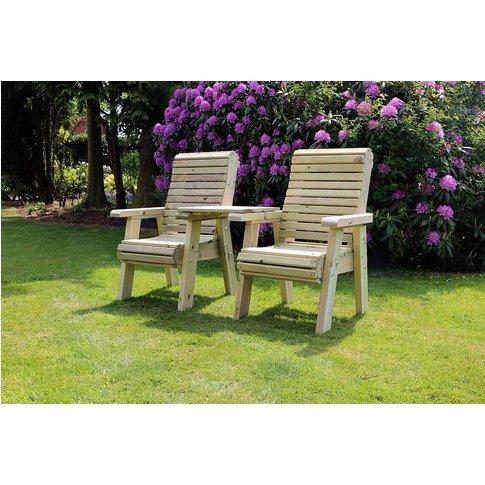 Churnet Valley Ergo Garden Love Seats Square Tray Ga...
