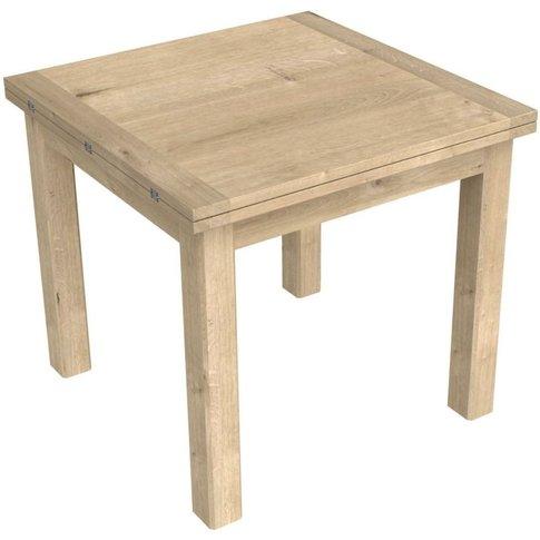 Bretagne Oak Flip Top 85cm-170cm Extending Dining Table