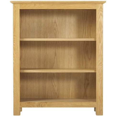 Classic Nordic Low Bookcase - Oak