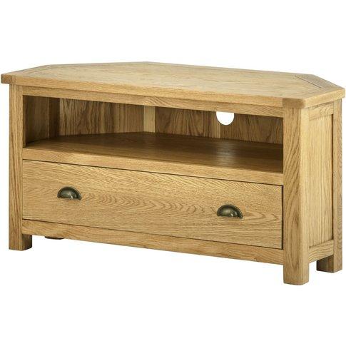 Classic Portland 1 Drawer Corner Tv Cabinet - Oak