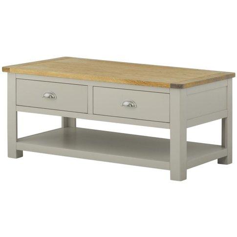 Classic Portland Storage Coffee Table - Stone Grey P...