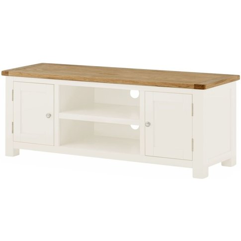 Classic Portland Large Tv Cabinet - White Painted