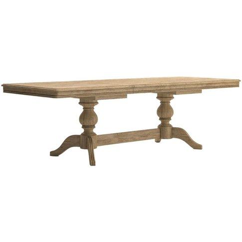 Classic Versailles Large Extending Dining Table - Oak