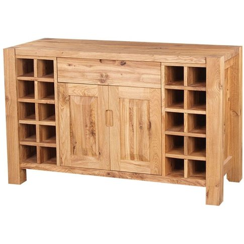 Forest Solid Oak Sideboard with Wine Rack - 1506