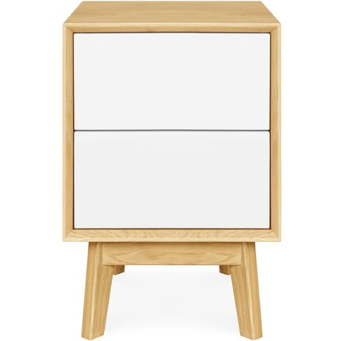 Clemence Richard Modena Solid Oak 2 Drawer Bedside C...
