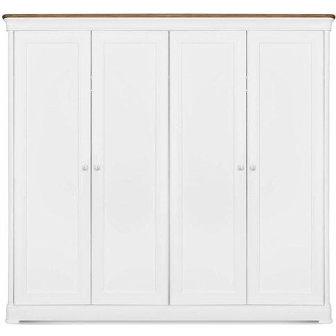 Moreno Painted 4 Door Wardrobe - 639