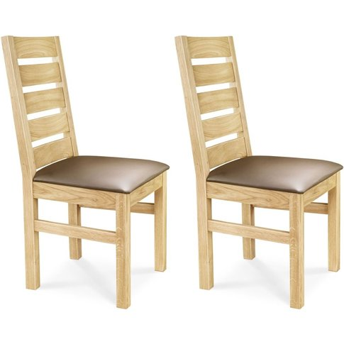 Clemence Richard Solid Oak Dining Chair With Leather...