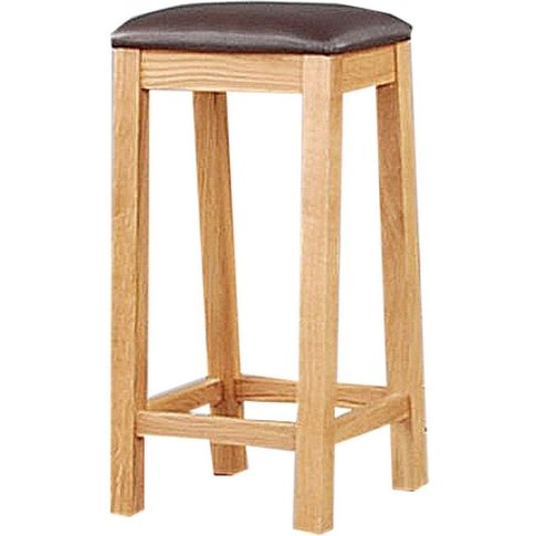 Clemence Richard Solid Oak Stool With Wooden Seat - 24