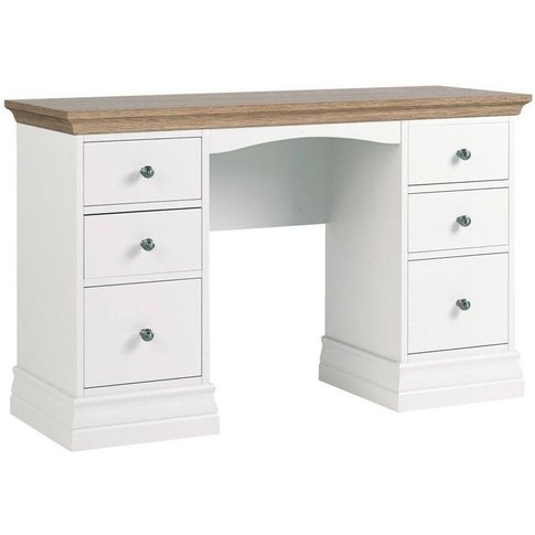 Corndell Annecy Oak Top 6 Drawer Double Dressing Table