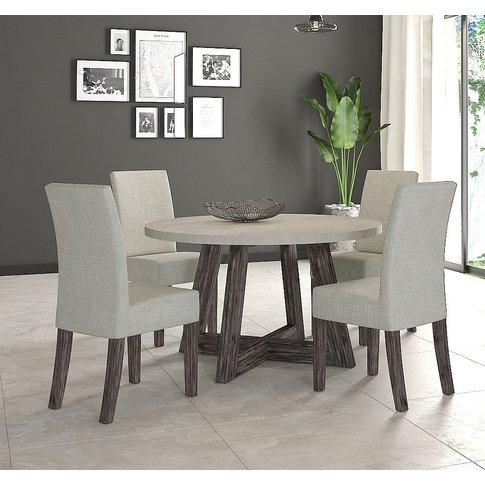 Corndell Austin Round Dining Table And 4 Chairs - Fa...