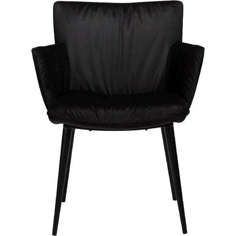 Dan Form Join Meteorite Black Velvet Armchair