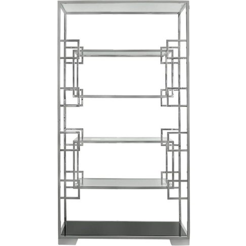 CIMC Jade Glass with Steel Polished Shelving Unit