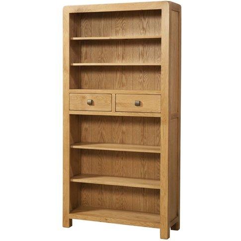 Devonshire Avon Oak 2 Drawer Tall Bookcase