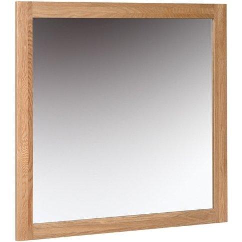 New Oak Medium Wall Mirror By Devonshire