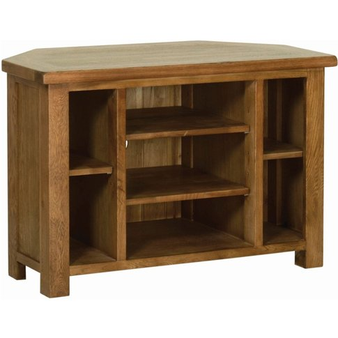 Rustic Oak Corner Tv Cabinet By Devonshire
