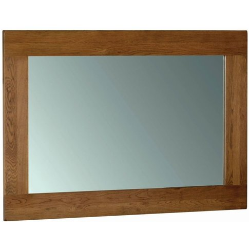 Rustic Oak Wall Mirror - 130cm X 90cm By Devonshire