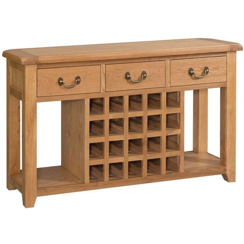 Somerset Oak Sideboard with Wine Rack By Devonshire