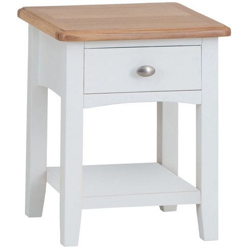 Graceton Oak And White Painted Lamp Table