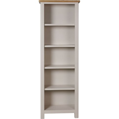 Portland Dove Grey Painted Bookcase