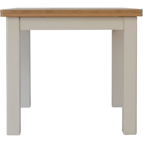 Portland Oak And Dove Grey Painted Flip Top Dining T...